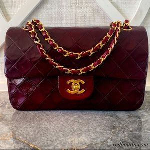 Chanel Classic Double Flap Burgundy Lambskin bag
